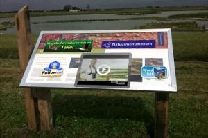 Penggunaan Layar di papan informasi